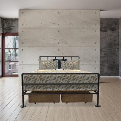 HERA-HOME-典雅工業風全柵欄床組-單人