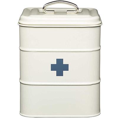 KitchenCraft 復古防潮急救箱(奶油黃3L)