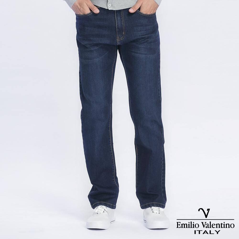 Emilio Valentino 范倫提諾彈性合身牛仔褲-藍