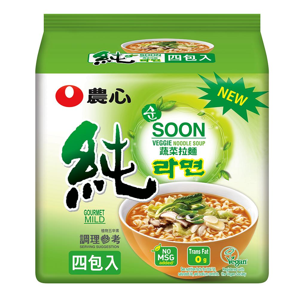 農心 蔬菜拉麵(112g×4入)