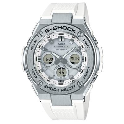G-SHOCK創新突破分層防護雙層結構休閒錶(GST-S310-7)銀X白52.4mm