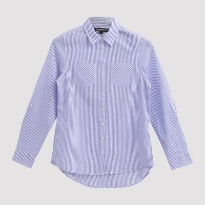 Hang Ten - 女裝 - 都會時尚直紋襯衫 - 藍