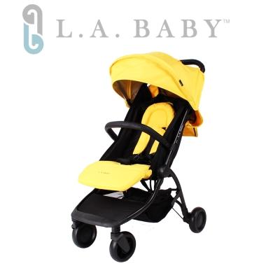 (L.A BABY 美國加州貝比)  旅行摺疊嬰兒手推車(黃色)