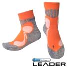 LEADER COOLMAX 排汗高筒 戶外健行 機能運動襪 (橘色)