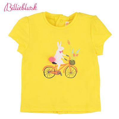 Billyblush白兔自行車黃色T恤