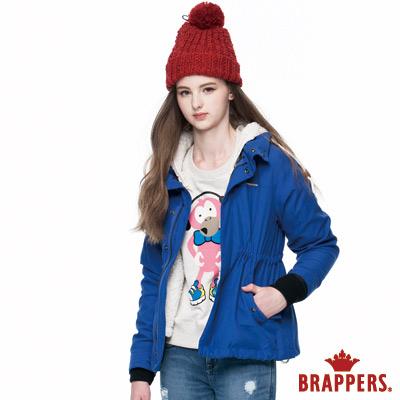 BRAPPERS 女款 女用兩件式風衣外套-寶藍
