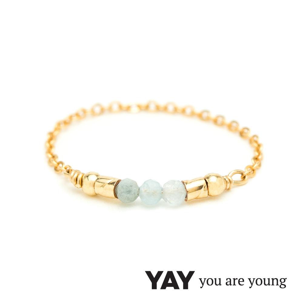 YAY You Are Young 法國品牌 Cleo 天河石戒指 迷你款 金色