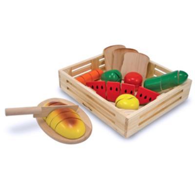 美國-Melissa-Doug木製玩食趣-切食物-玩具組