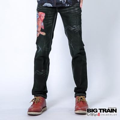 BIG-TRAIN-青鬼降魚小直筒-男-深藍
