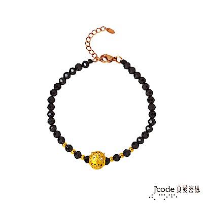 J code真愛密碼金飾 守護愛情黃金/尖晶石手鍊-小