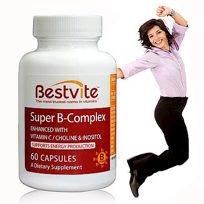 美國BestVite 必賜力超級維他命B群膠囊1瓶 (60顆/瓶)