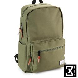 74盎司 後背包 韓版尼龍素色硬挺 後背包[TG-065]軍綠