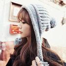 A-Surpriz 甜美佳人大毛球辮子毛線帽(高雅灰)