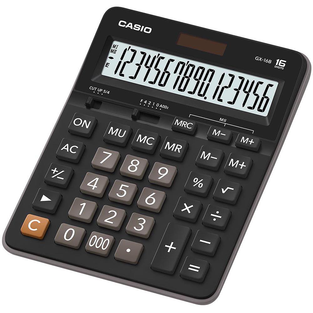 CASIO 16位元 桌上型大螢幕計算機-(GX-16B)