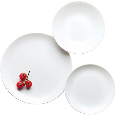 EXCELSA Joke白瓷濃湯碗餐盤18件