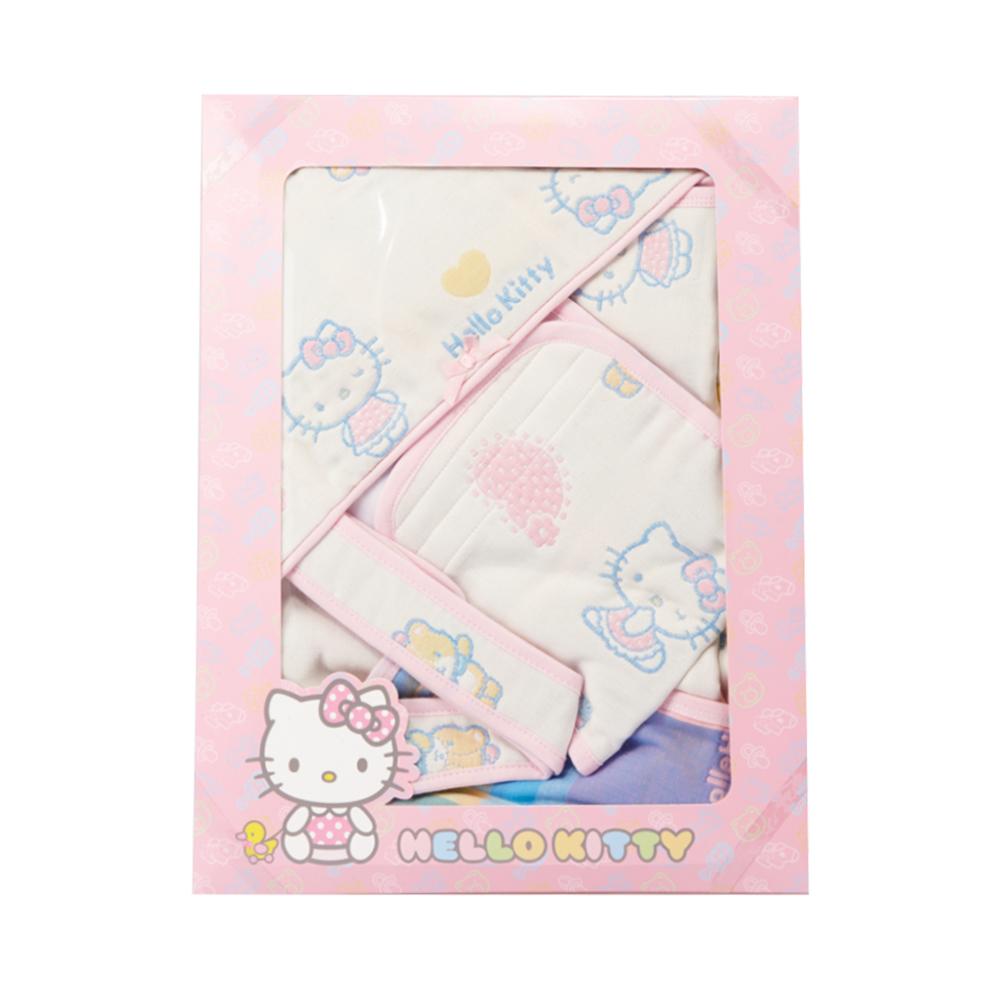 凱蒂貓 六層紗禮盒組(包巾+小肚圍)