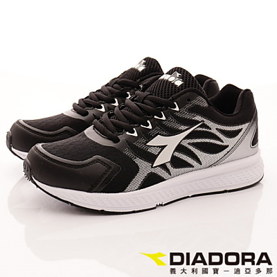 DIADORA-專業彈力跑鞋款-RSI000黑(女段)