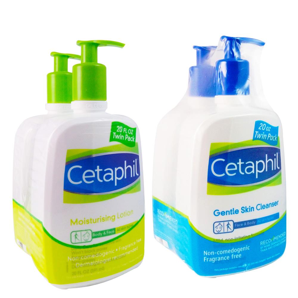 Cetaphil舒特膚溫和乳液591mlx2入贈溫和清潔乳591ml*2入