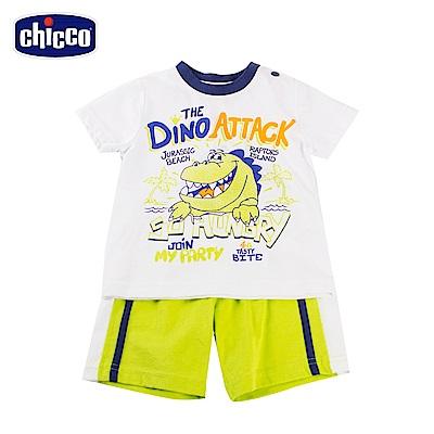 chicco熱帶風情-小恐龍龍短袖套裝