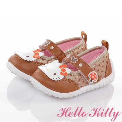 HelloKitty 森林系列 輕量透氣減壓抗菌防臭娃娃童鞋 咖啡色