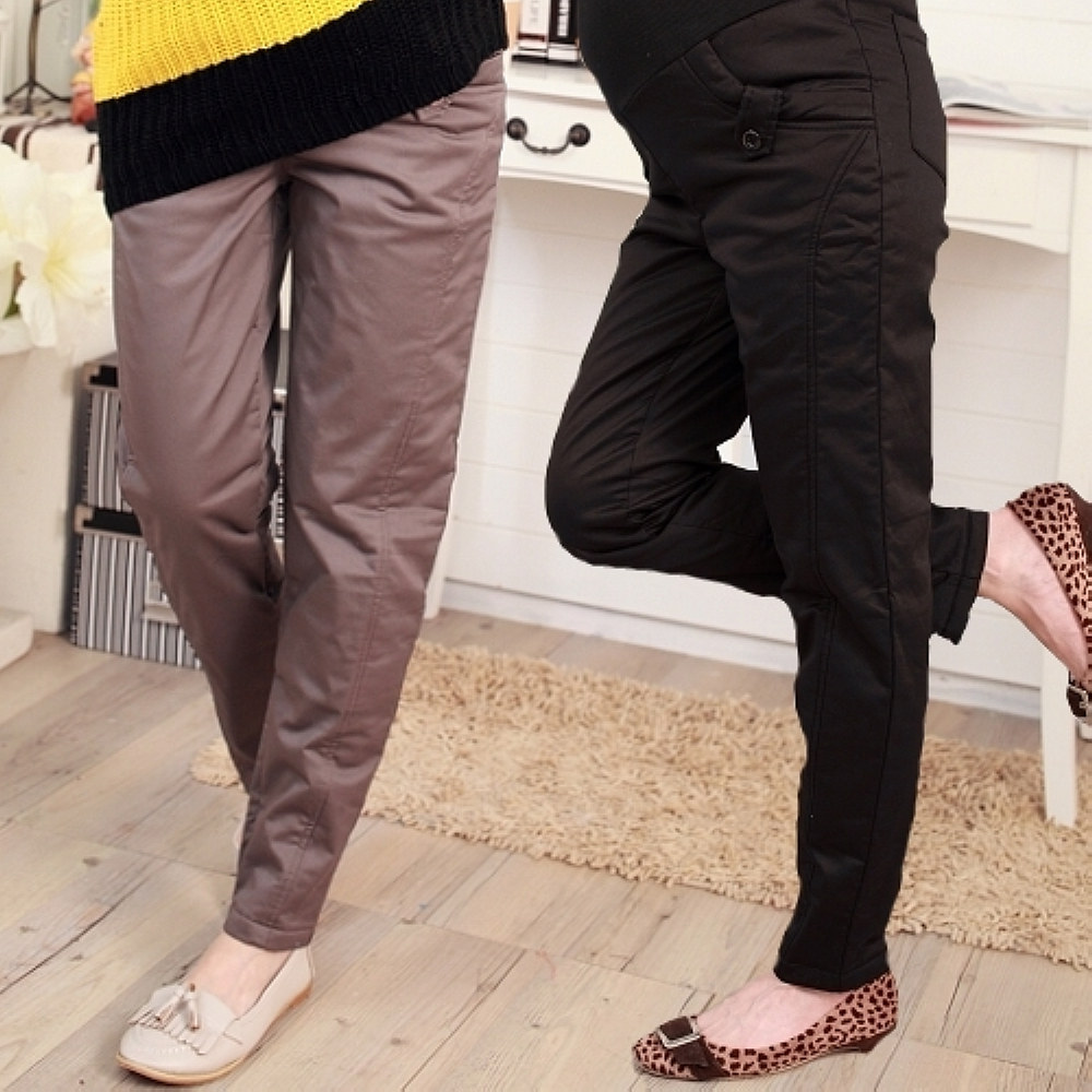 【Keep Chic孕婦裝】鋪棉保暖直筒長褲(共二色)
