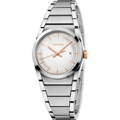 Calvin Klein CK Step 城市美學腕錶-銀/30mm K6K33B46