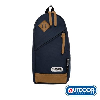 OUTDOOR-率真年代系列-皮底單肩包-鈷藍OD62023NY