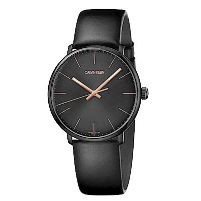 CK CALIVN KLEIN 巔峰系列鍍PVD黑手錶-40mm