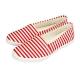 FUFA MIT  清新條紋舒適休閒鞋 (H75)-紅色 product thumbnail 1