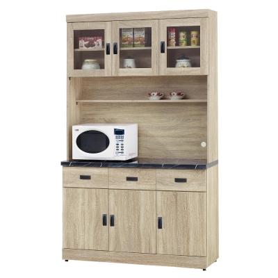 品家居-法路4尺橡木紋石面餐櫃組合-121-4x4
