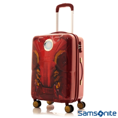 Samsonite新秀麗-26吋Marvel漫威英雄3D立體TSA行李箱-鋼鐵人