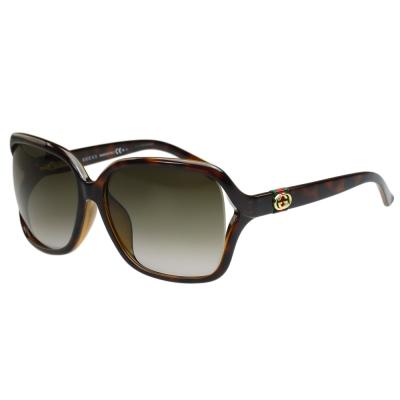 GUCCI-時尚太陽眼鏡(琥珀色)