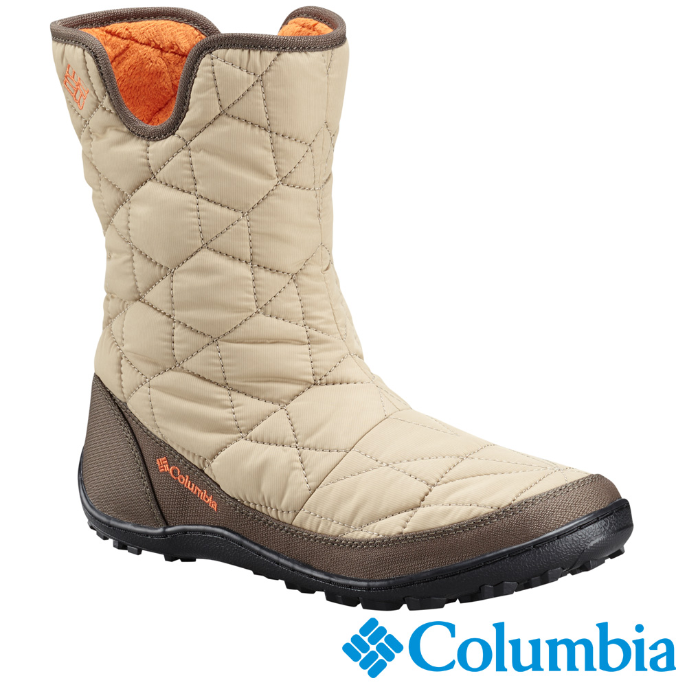 Columbia哥倫比亞 女款-防水保暖雪鞋-米白色 UBL15970BG