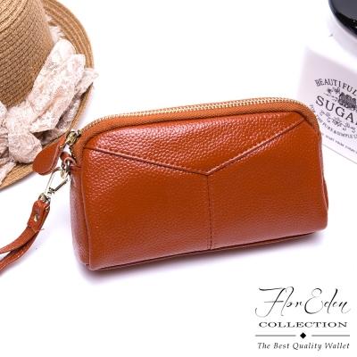 DF Flor Eden - 簡約美時尚秀牛皮款手拿包-共4色