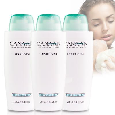 以色列CANAAN 死海鹽淨膚保水沐浴乳霜250ml三入