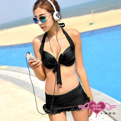 天使霓裳 經典假期 二件式比基尼泳衣(黑M~XL)