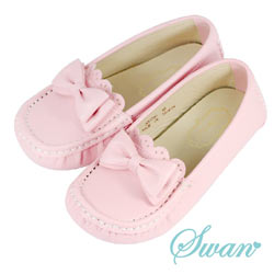 Swan天鵝童鞋-可愛蝴蝶結豆豆鞋 3766-粉