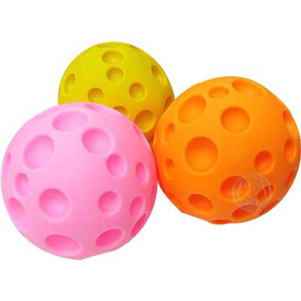 啾啾叫超好玩★寵物啾啾叫玩具球 (黃/橘/紅色隨機出貨共3個)