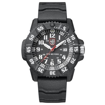 LUMINOX 雷明時 3800碳纖維超級海豹系列腕錶-黑x白時標/46mm