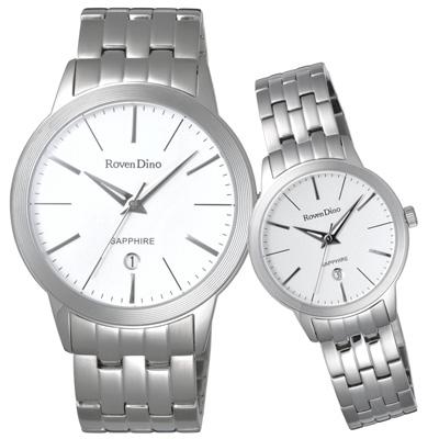 Roven Dino羅梵迪諾  無限無線時尚日期對錶-銀-40X30mm