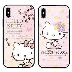 GARMMA Hello Kitty iPhone 7/8+ 鋼化玻璃殼
