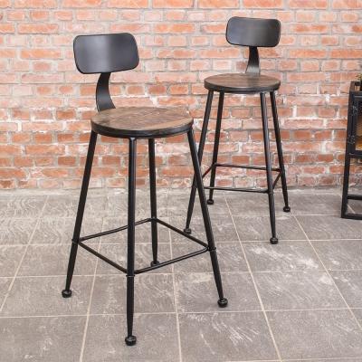 Bernice-伯恩工業風吧台椅/高椅(二入組合)-42x45x90cm