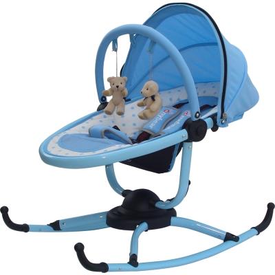 湯尼熊 Tony Bear 小巨蛋嬰兒安撫旋轉搖椅(藍/粉)