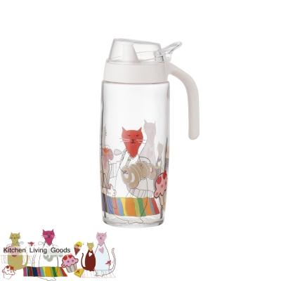 甜蜜貓玻璃油壺-500ml