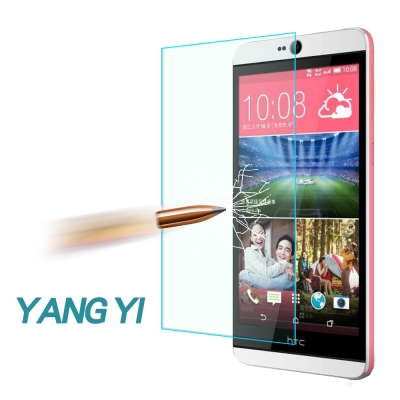 YANGYI 揚邑 HTC Desire 826 防爆防刮防眩弧邊 9H鋼化玻璃...