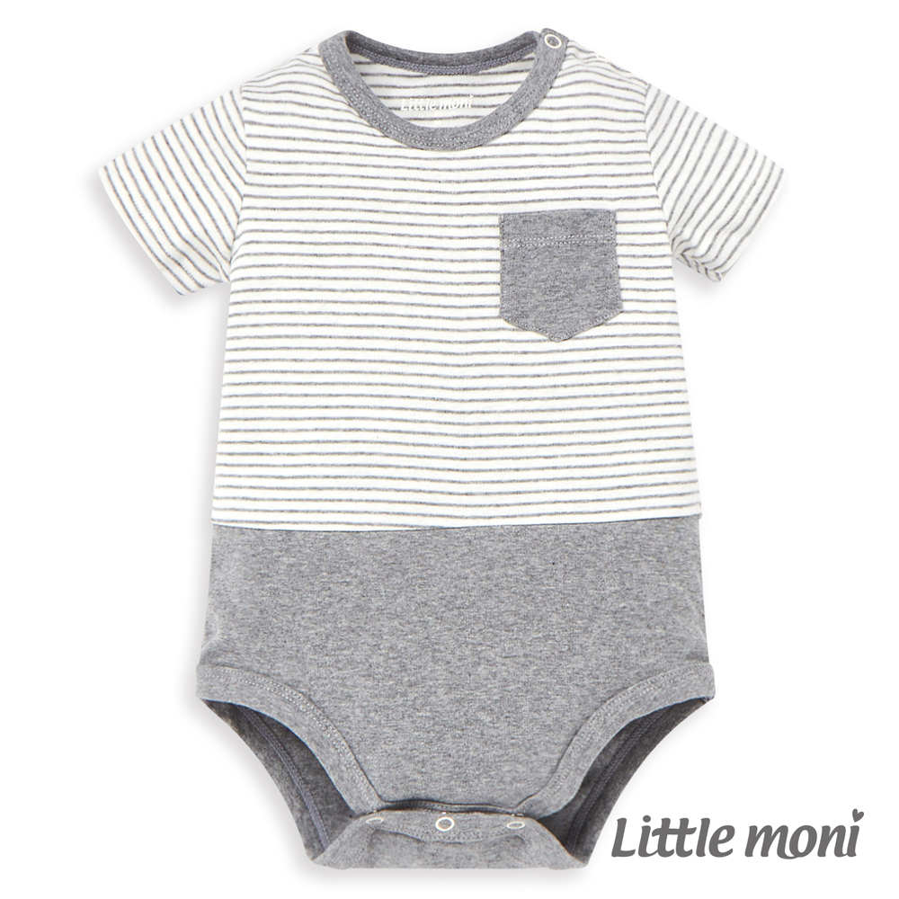 Little moni 家居系列短袖包屁衣 (2色可選)