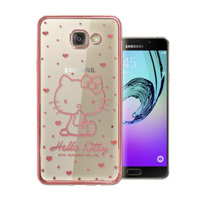 三麗鷗Kitty Samsung Galaxy A5(2016)雷雕電鍍手機殼(...