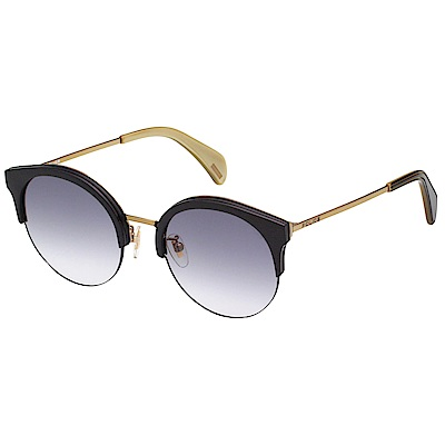 POLICE 太陽眼鏡 (黑配金) SPL615