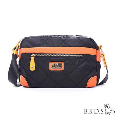 B.S.D.S冰山袋鼠-蘭姆嘉年華x經典淑女款壓角側背包-樹莓黑