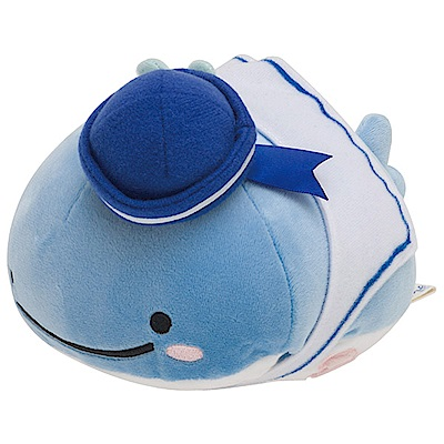 鯨鯊先生海軍好朋友系列QQ毛絨公仔 (S)。小藍鯨San-X
